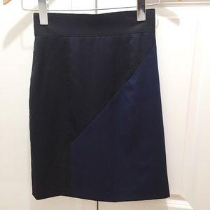 Abaete Colorblock Skirt Merino Wool Sz 0 Navy/ Blk